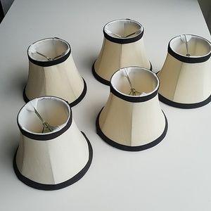 Set of 5 silk mini shades